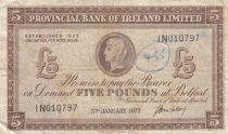 Irlande du Nord 5 Pounds Provincial Bank Limited 1972 - TTB - P.246