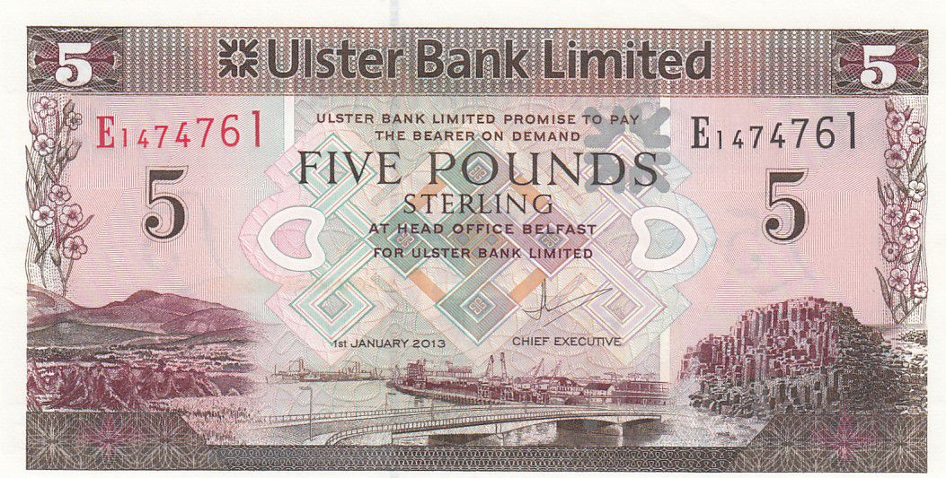 Irlande du Nord 5 Pounds Ulster Bank - 1983 - P.340 - Neuf