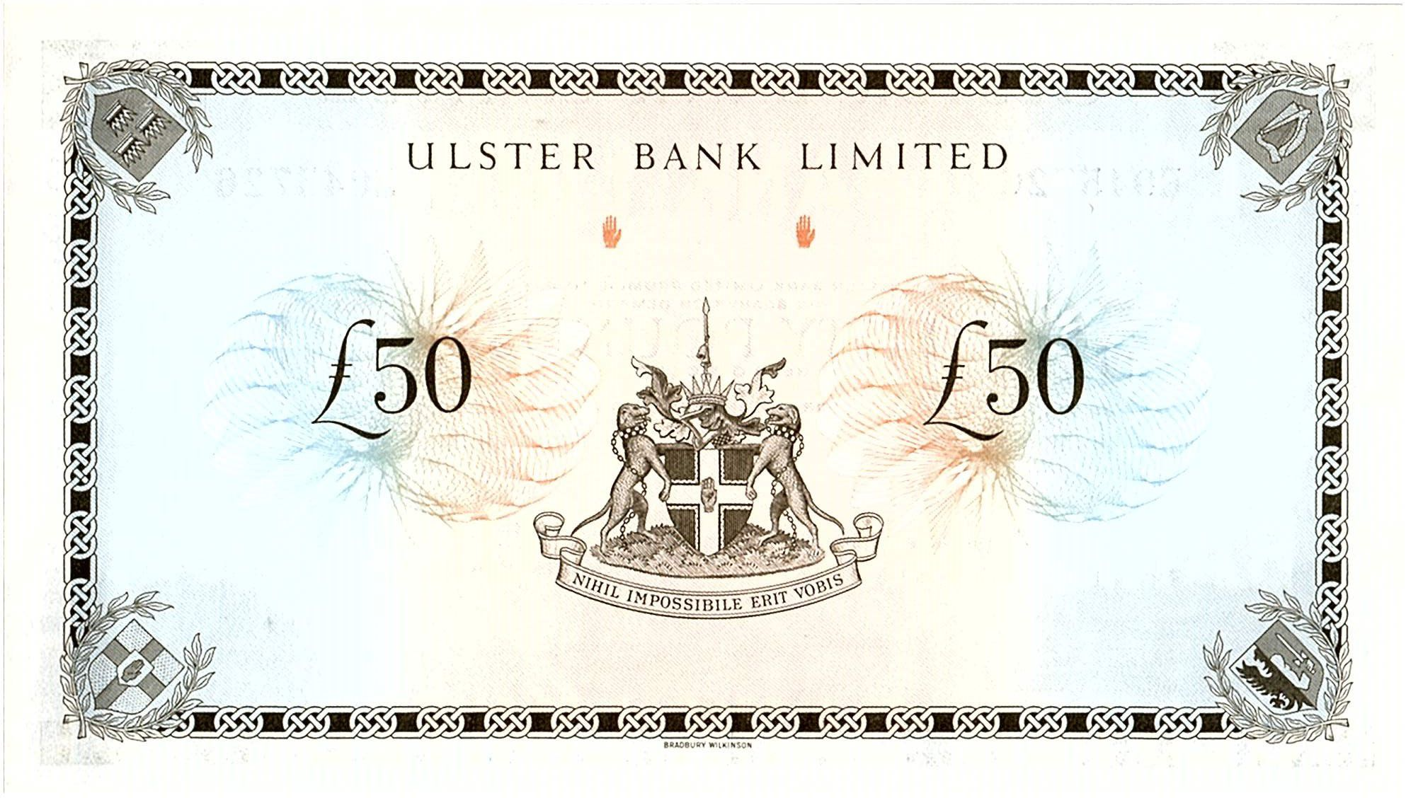 Irlande du Nord 50 Pounds Ulster Bank - 1982 - P.329