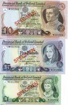 Irlande du Nord CS.2 3 Billets, Série 1, 5 et 10 £ P.247 à 249