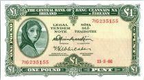 Irlande P.64.a 1 Pound, Lady Lavery - 1966