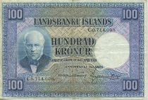 Island 100 Kronur J. Sigurdsson - Flock of sheep