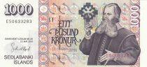 Island 1000 Kronur B.B. Sveinsson - Church - 2001 (2009)