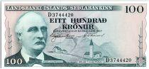 Islande 100 Kronur  - Tryggvi Gunnarsson - 1957