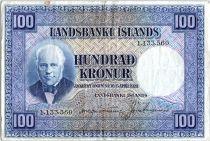Islande 100 Kronur,  J. Sigurdsson - Moutons - 1946