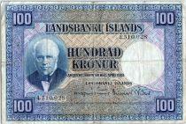 Islande 100 Kronur, J. Sigurdsson - Moutons - 1948 - P.35 a
