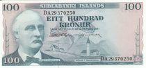 Islande 100 Kronur 1961 - Tryggvi Gunnarsson