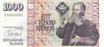 Islande 1000 Kronur B.B. Sveinsson - Eglise Luthérienne - 2001 (2009)