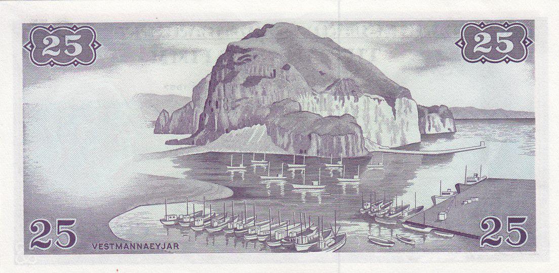 Islande 25 Kronur - M. Stephensen - 1957