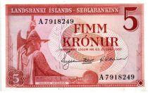 Islande 5 Kronur L. Arnarson - Ferme 1957