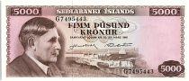 Islande 5000 kronur - Einer Benediktsson - 1961