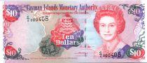 Islas Caimán 10 Dollars Elisabeth II - Playa - 2005