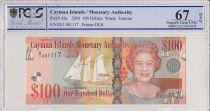 Islas Caimán 100 Dollars 2010 - Elizabeth II - Boats - PCGS 67 OPQ