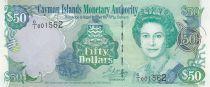 Islas Caimán 50 Dollars - Elizabeth II - Local house - 2001