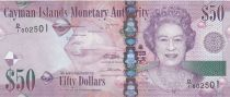 Islas Caimán 50 Dollars Elizabeth II - Fish 2010