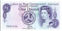 Isle of Man 1 Pound  Elisabeth II - Tynwald Hill  - 1979 serial P