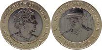Isle of Man 2 Pounds D DAY - Churchill 2019 - Bimetal