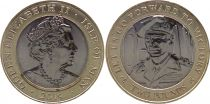 Isle of Man 2 Pounds D DAY - Montgomery 2019 - Bimetal