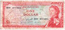 Isole dei Caraibi 1 Dollar Elizabeth II - Beach, coconuts - 1965 - B89
