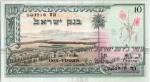 Israël 10 Lirot ND1955