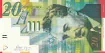 Israël 20 New Sheqalim Sheqalim, Moshe Sharett - 2001