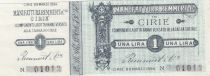 Italia 1 Lira, Manufactures Cirié - 1894 - Notgelt