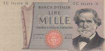 Italia 1000 Lire - 05-08-1975 - G. Verdi - Serial TC