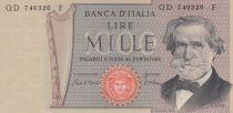 Italia 1000 Lire - 20-02-1980 - G. Verdi - Serial QD