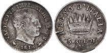 Italian States 5 Soldi - Napoléon I  - 1814 M