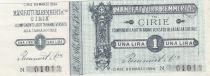 Italie 1 Lira, Manufacture Cirié - 1894 - Bon fiduciaire