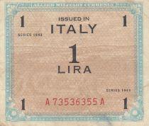 Italie 1 Lira 1943 - Bleu et marron - Série A73536355A