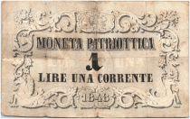 Italie 1 Lire Chevaux et Fleurs - Lion de Venise 1848 - 58
