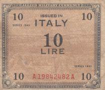 Italie 10 Lire 1943 - Gris et marron - Série A19842482A