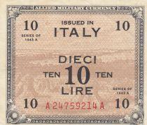 Italie 10 Lire 1943 - Gris et marron - Série A24759214A