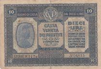 Italie 10 Lire Italia - 1918
