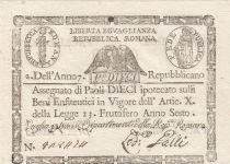 Italie 10 Paoli 1798 - Aigle, Anno 6 - Rep romana
