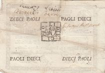 Italie 10 Paoli Aigle, Anno 7 - 1798 - Rectangle - 3ex