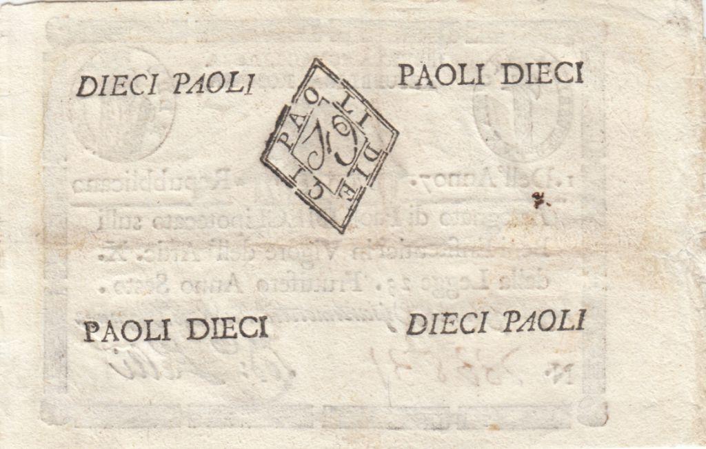 Italie 10 Paoli Aigle, Anno 7 - 1798 Losange 4 ex