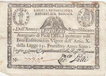 Italie 10 Paoli Aigle, Anno 7 - Rep romana 1798