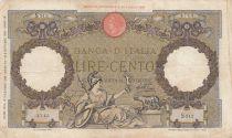 Italie 100 Lire - 16-12-1936 - Femme au sceptre, Aigle - Série S212
