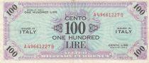 Italie 100 Lire 1943 - Bleu et violet - Série A49661227B