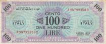 Italie 100 Lire 1943 - Bleu et violet - Série A94799358B