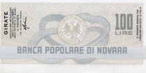 Italie 100 Lire Banco Popolare di Novara - 1977 - Novara - NEUF
