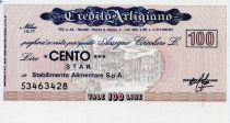 Italie 100 Lire Credito Artigiano - 1977 - Milano - NEUF