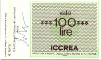 Italie 100 Lire ICCREA - SAVCA - Carburanti  - 1977 - Neuf
