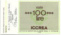 Italie 100 Lire ICCREA - Tabbacchi Bollati - 1977 - Neuf