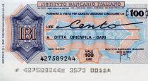 Italie 100 Lire Istituto Bancario Italiano - 1977 - Bari - Neuf