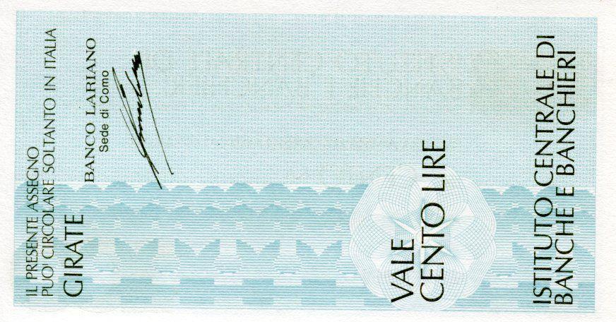 Italie 100 Lire Istituto Centrale di Banche E Banchieri - 1977 - Milano - Banco Lariano - Neuf