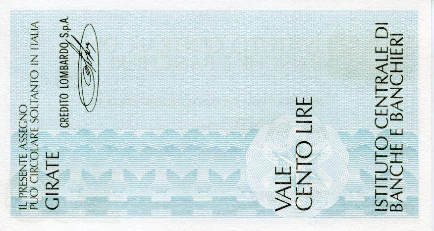 Italie 100 Lire Istituto Centrale di Banche E Banchieri - 1977 - Milano - Credito Lombardo - NEUF