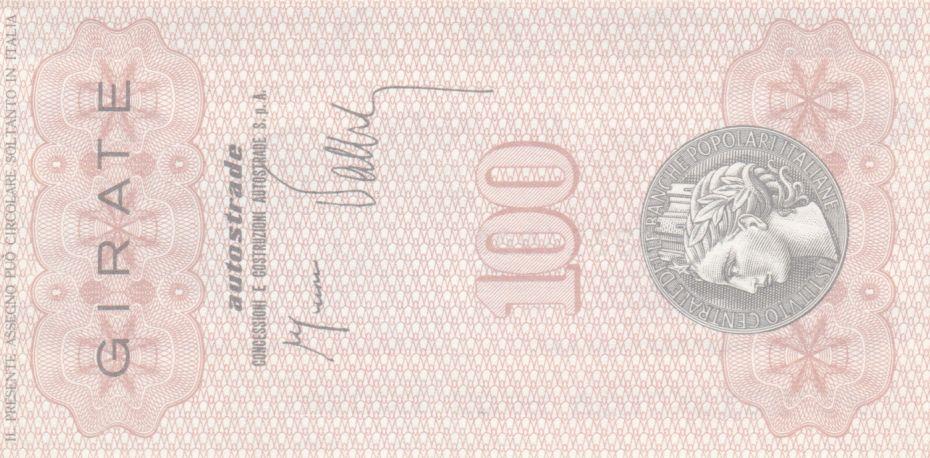 Italie 100 Lire Istituto Generale delle Banche Popolari Italiane - 1977 - Neuf - Spa